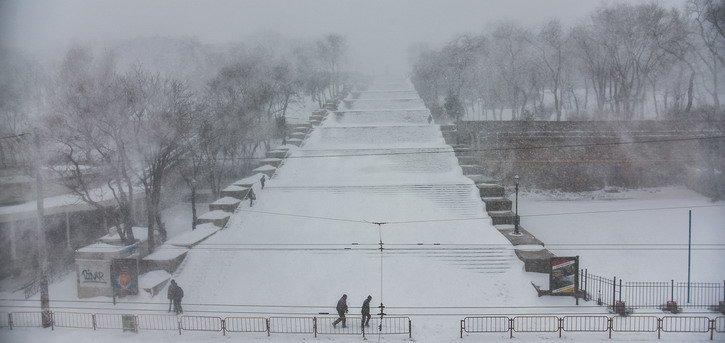 В понедельник Одессу засыплет снегом