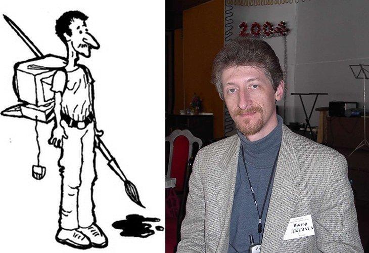 Художник-карикатурист Виктор Джевага и его карикатуры (ФОТО)