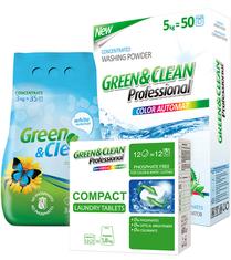 Современные стиральные порошки Green Clean