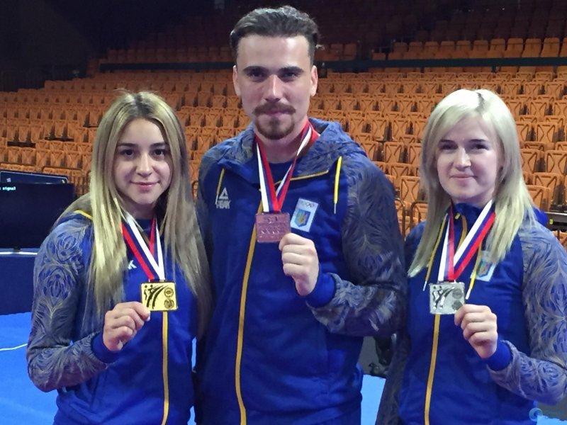 Полный комплект медалей привезли одесские каратисты из Сербии