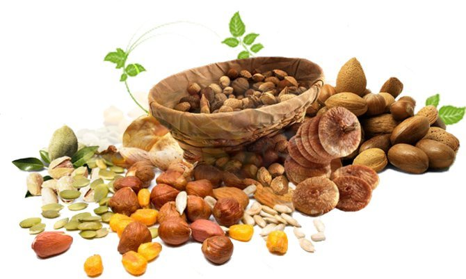 Орехи и сухофрукты поддержат уровень гемоглобина