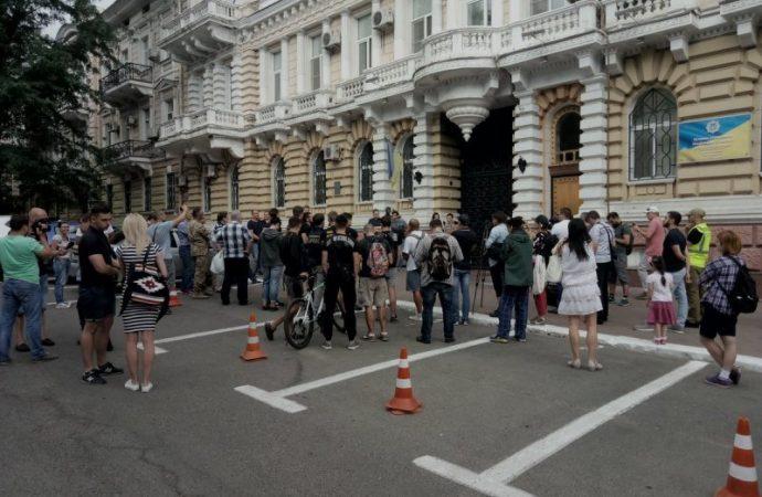 Одесситы взбунтовались против неизвестных, которые нападают на активистов (ФОТО)