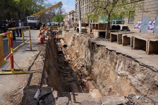 Летом в Одессе перекопают несколько центральных улиц ради ремонта теплосетей