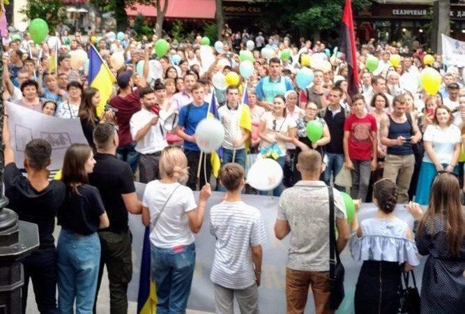 В Одессе около двух тысяч человек вышли на митинг в защиту традиционной семьи (ФОТО)