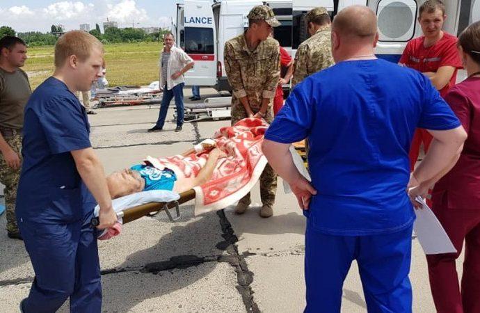 В Одессе приземлился борт с раненными бойцами