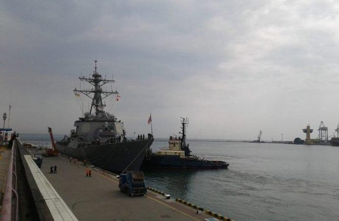В ожидании «Sea Breeze-2018»: в Одессе пришвартовался первый американский эсминец