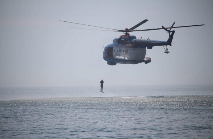 «Си бриз-2018»: одесские пограничники прыгали с вертолета без парашюта (ФОТО)
