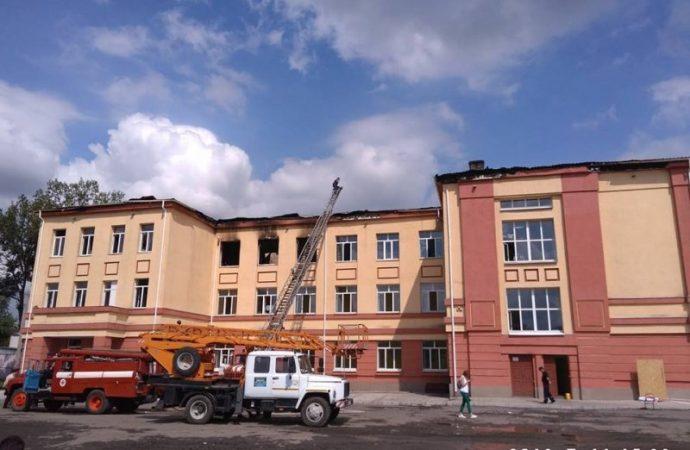 Сгоревшую балтскую школу начнут ремонтировать в этом году
