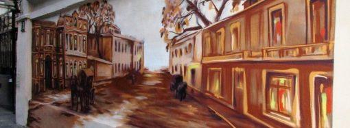Карета, лошадь, фонари: в переулке Нахимова появились два стрит-арта, объединенные темой старой Одессы