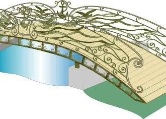 Кованый мостик на прудах парка Победы появится к началу зимы