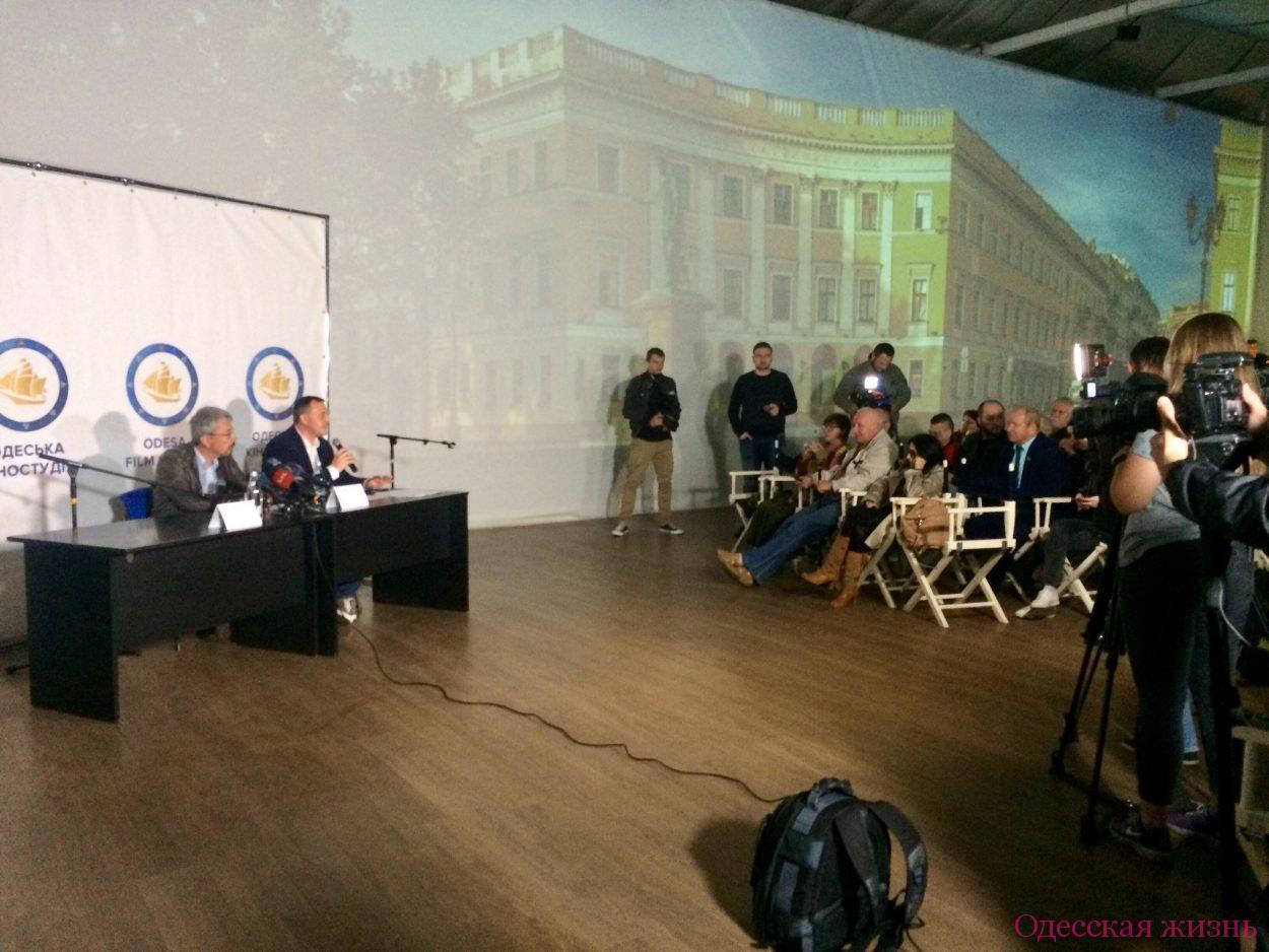 Пресс-конференция на киностудии