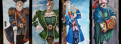 Персонажи «Острова сокровищ» обосновались на трансформаторных будках в Одессе (ФОТО)