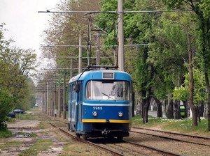 В Одессе отменили две остановки трамваев