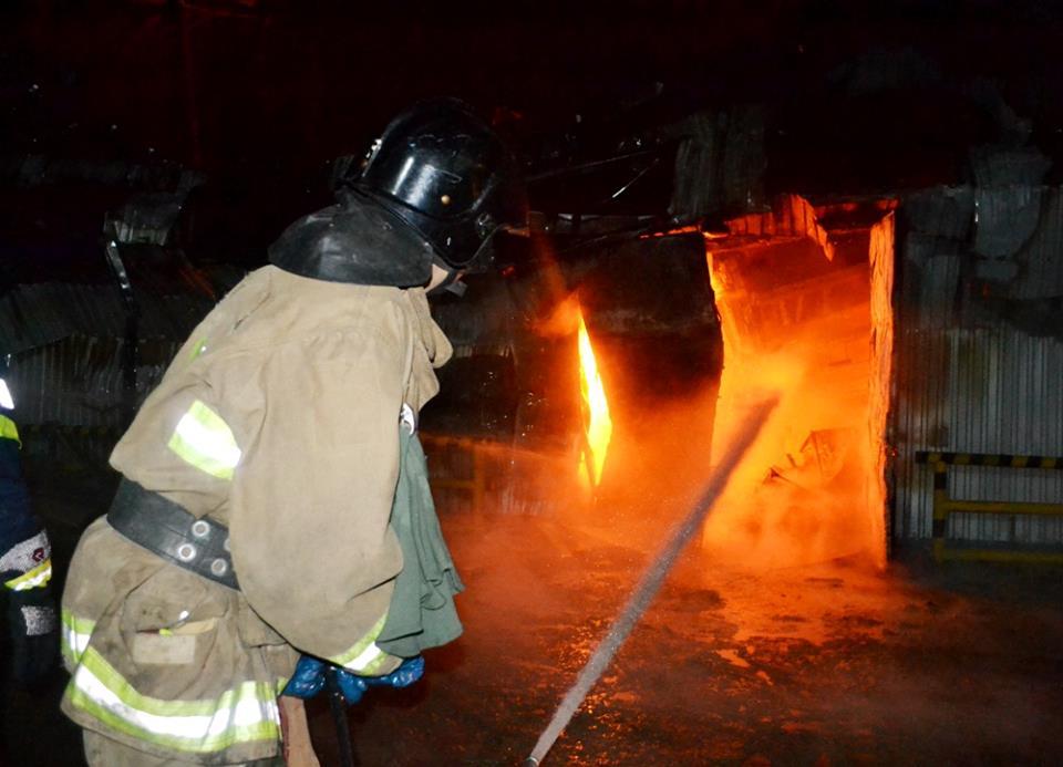 пожар на маслоперерабатывающем заводе
