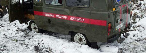 Медики на «скорой» везли пациента из Кодымы в Балту и попали в аварию на скользкой трассе