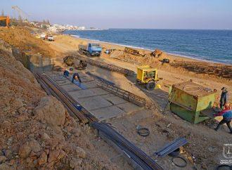 Противооползневые работы в Черноморске продолжаются: финансирование поступает из госбюджета