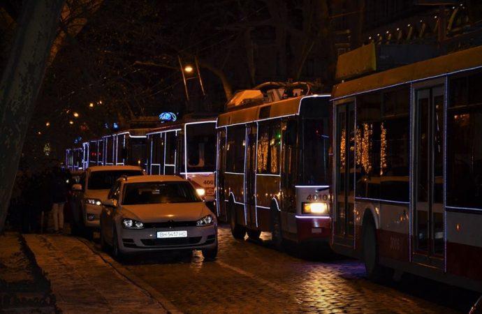 Какой транспорт в Одессе на Новый год будет работать всю ночь