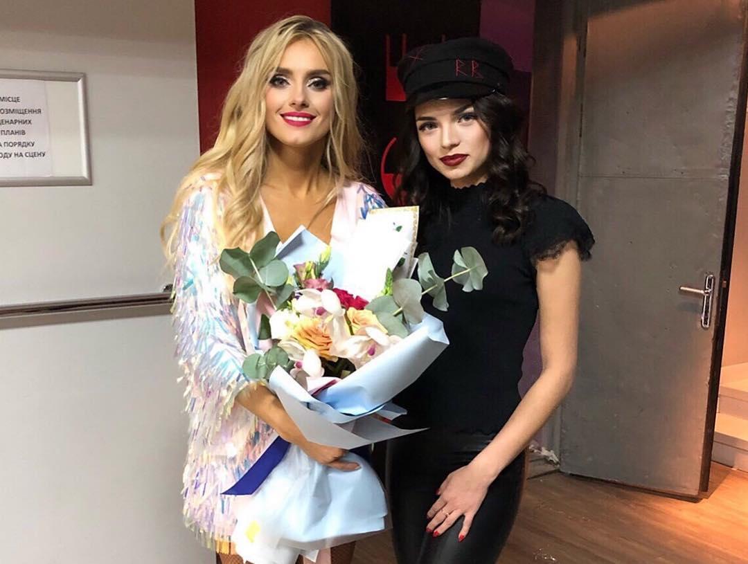 Ирина Федишин с участницей аукциона Интсаграм