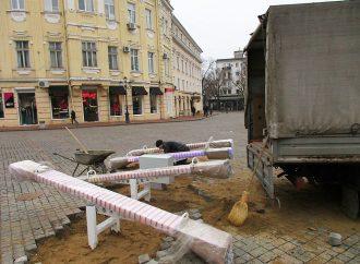 В Одессе появились световые качели