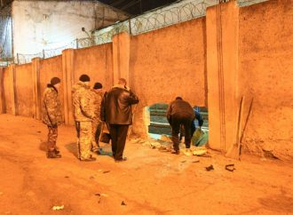 Иномарка протаранила забор одесской тюрьмы (ФОТО)