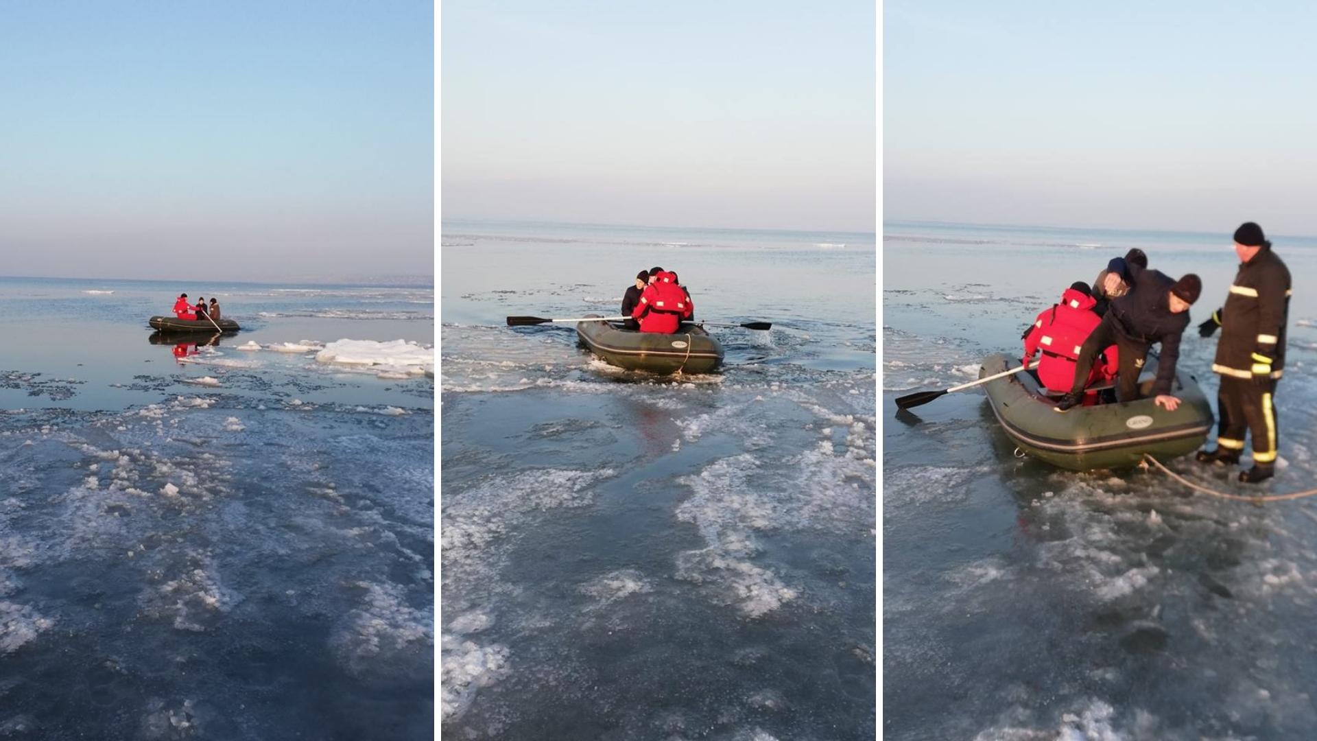дети на льдине
