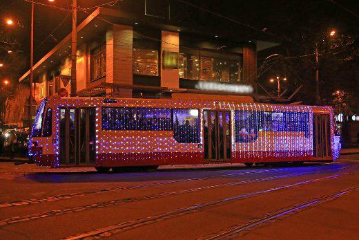 Традиционный рождественский парад трамваев устроят в Одессе и в этом году