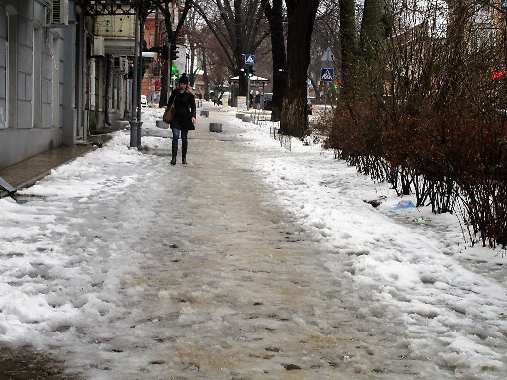 снег улицы