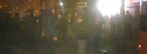 Протест против казино: активисты перекрыли Люстдорфскую дорогу