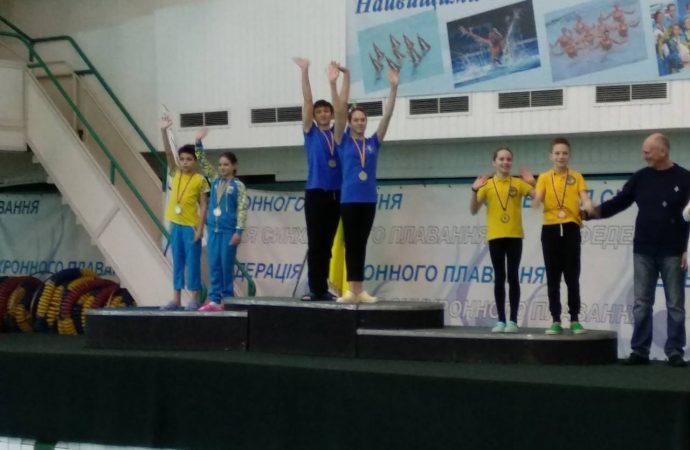 Одесситы завоевали два «золота» на чемпионате страны по синхронному плаванию