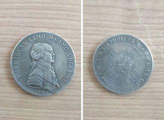 Одесские таможенники выявили на границе монету Павла I стоимостью 1,2 миллиона гривен