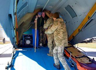 Борт с ранеными военнослужащими прибыл в Одессу
