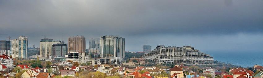 Панорама высотной застройки Аркадии