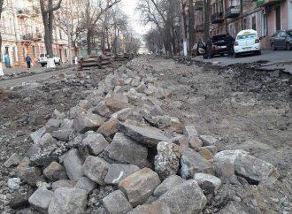 Ремонт Софиевской: что происходит с демонтированной брусчаткой?