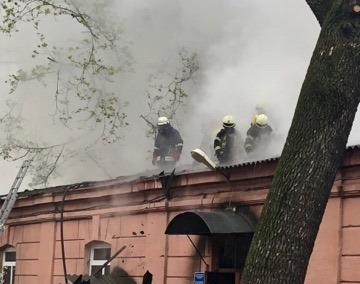 В Одессе горела психиатрическая клиника