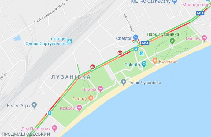Два ДТП собрали затор в сторону центра Одессы