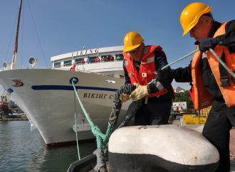 Круизный сезон в Одесском порту открыт: сегодня у морвокзала пришвартовался лайнер VIKING SINEUS