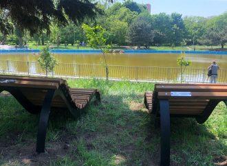 Одесситам обещают установить еще 12 кресел-лежаков в парке Победы