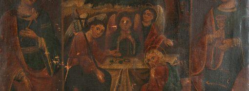 Директор Одесского худмузея показал украинскую Старозаветную Троицу из музейных фондов