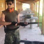 Александр Стоянов в тире