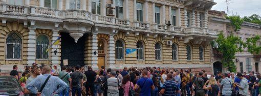 Одесситы присоединились ко всеукраинской акции и требовали отставки Авакова