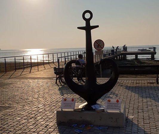 Одесское якорь-сердце теперь красуется на Кипре
