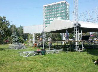 Ради концерта в поддержку кандидата в депутаты в Одессе испортили зеленую зону