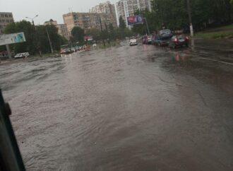 Апокалипсис вернулся: в Одессе буря ломает ветки, заливает улицы и парализует движение