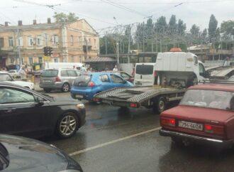"""Ливень в Одессе – часть вторая: пробки и """"нулевая"""" видимость за городом"""