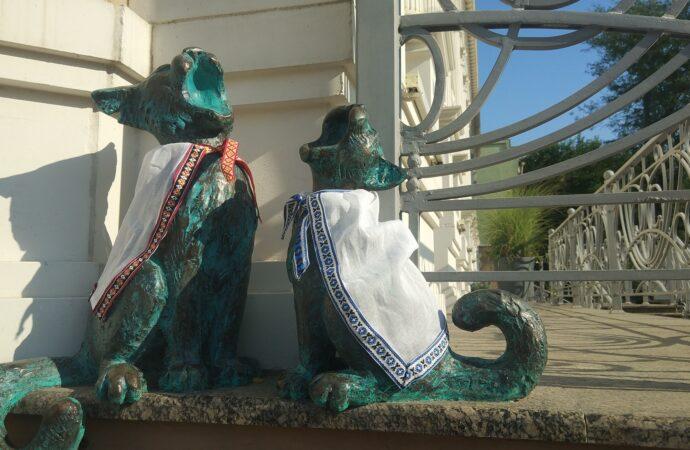 Одесских котов принарядили к государственному празднику (фото)