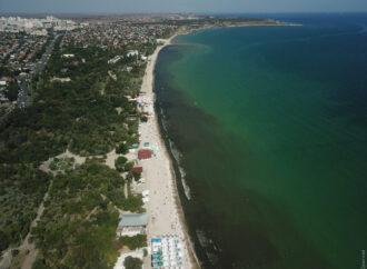 Черное море почернело: вода на одесском пляже в Лузановке сильно потемнела