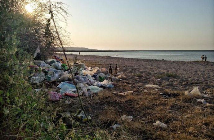 Пляж под Одессой утопает в мусоре и превращается в болото