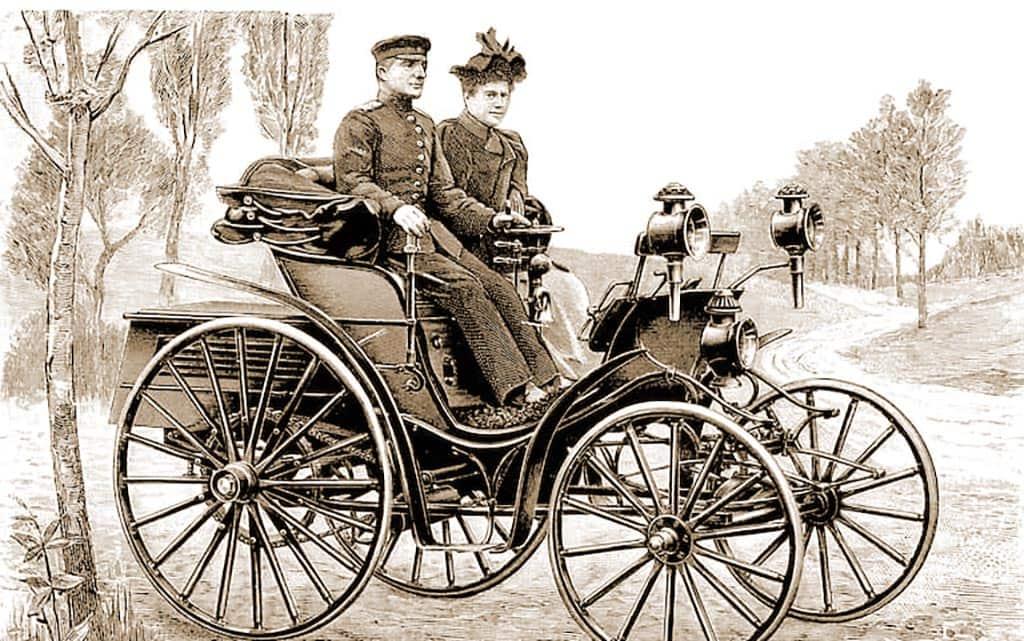 на автомобиле с дамой 19 век