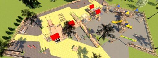 В центре Одессы обустраивают игровую зону для детей с особыми потребностями