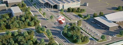 Одесский аэропорт украсят огромным светящимся шаром